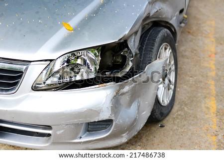 Car crash background - stock photo