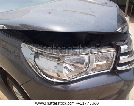 Car crash or accident. - stock photo