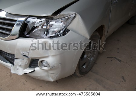 Car damaged from car accident