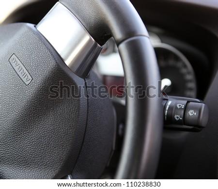 Car dashboard. - stock photo