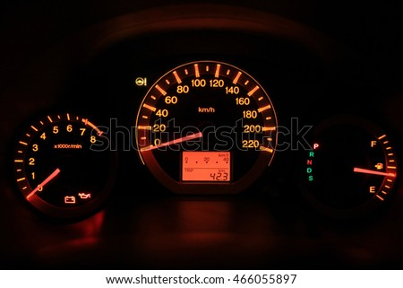 Car dashboard display led