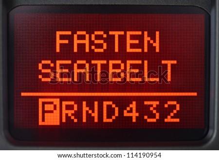 Car dashboard information, close up - stock photo