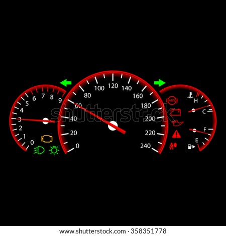 Car dashboard modern automobile control panel - stock photo