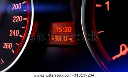 Car Dashboard Night View