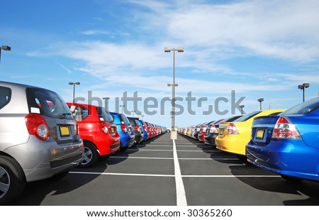 car dealer - stock photo