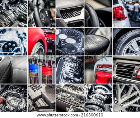 Car details collage