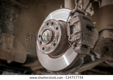 Car disc break - stock photo