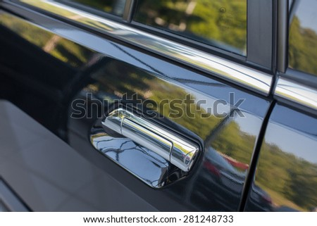 Car door handle from outside.