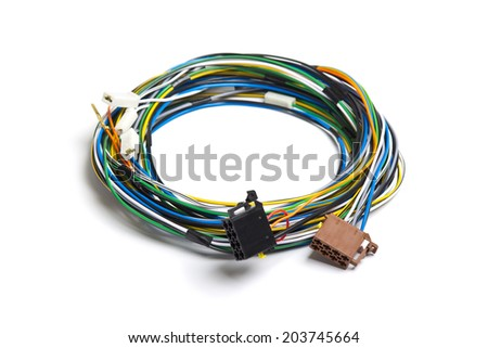 Car electric wiring set - stock photo