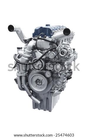 Car engine - stock photo
