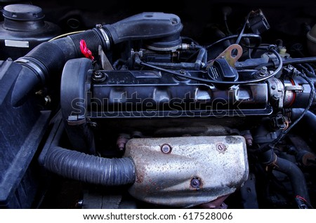 Car Engine Parts Under Hood Stock Photo (Edit Now)- Shutterstock