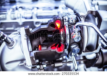 Car Engine closeup - stock photo