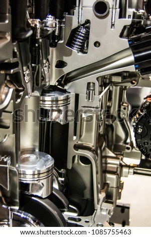 Car Engine Components Stock Photo & Image (Royalty-Free) 1085755463 ...