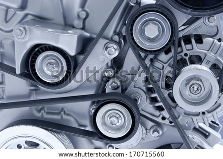 Car engine part - stock photo