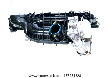 Car engine part - associated pipe - stock photo
