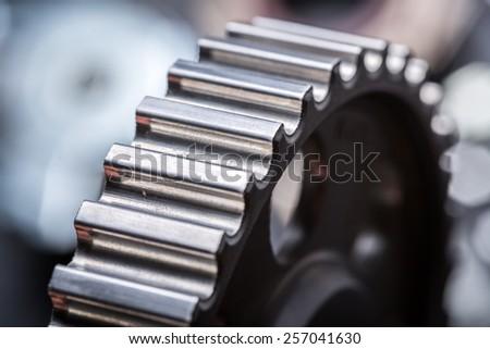 Car engine parts - stock photo