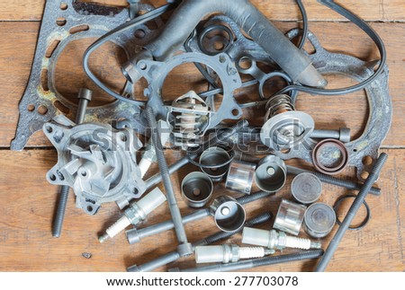Car engine parts are replaceable. - stock photo