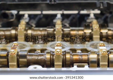 Car engine repair - stock photo