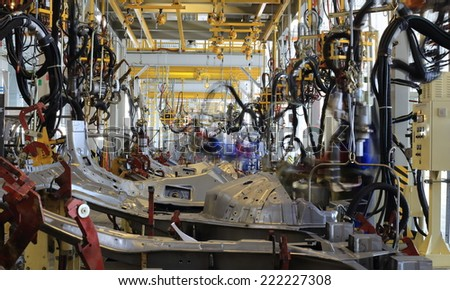Car factory Avtotor on September 16, 2014 in Kaliningrad, Russia.