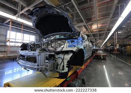 Car factory Avtotor on September 16, 2014 in Kaliningrad, Russia. - stock photo