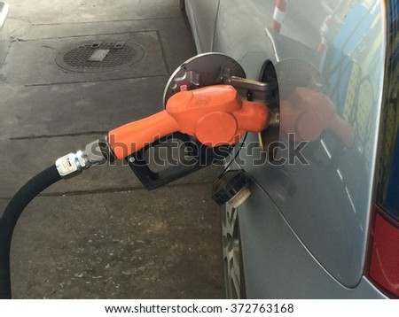 Car filling up gasoline