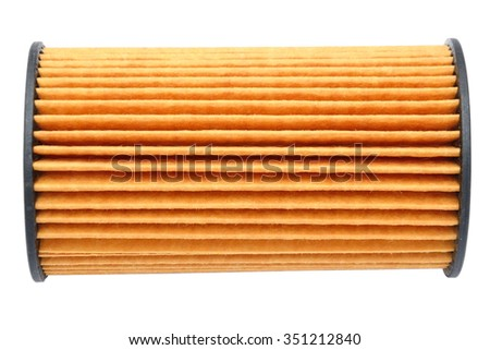 Car fuel filter isolated on white background - stock photo