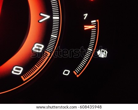Car Fuel Gauge Meter