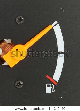 Car fuel gauge show at full level - stock photo
