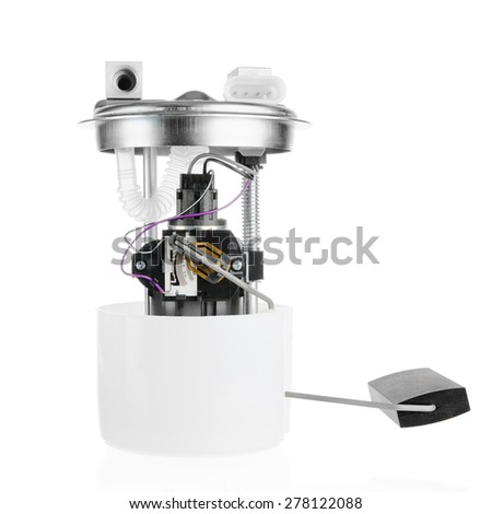 Car fuel pump module on a white background - stock photo