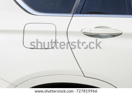 Car Gas Tank Door Handle White Stock Photo Royalty Free 727819966