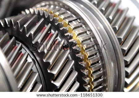 Car gear box sprocket. - stock photo