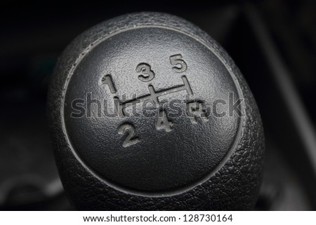 car gear lever - stock photo