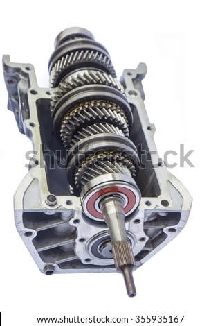 car gearbox inner on isolated background