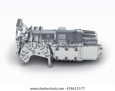 car gearbox isolated on a white background.3D illustration.
