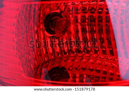 Car headlight bus and truck - stock photo