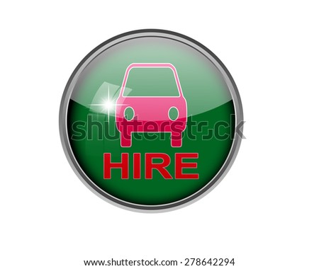 Car Hire Button Stock Illustration 278642291 Shutterstock