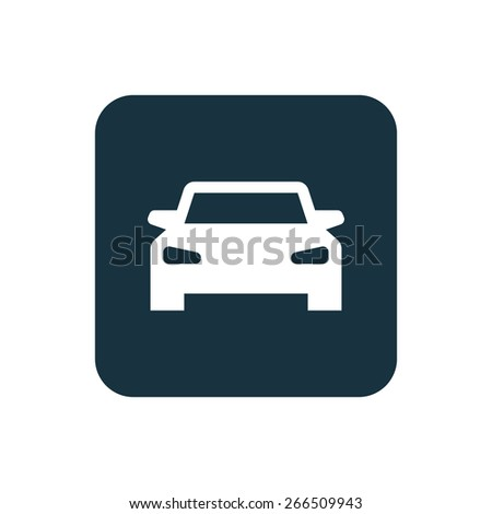 car icon Rounded squares button, on white background