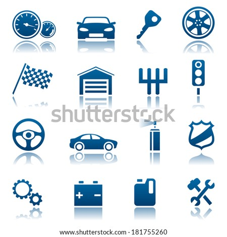 Car icon set. Raster version of EPS image 43659583 - stock photo