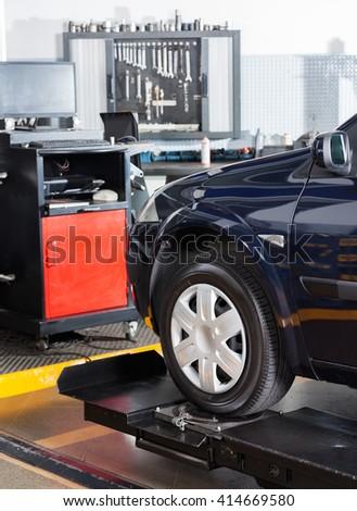 Car In Repair Shop - stock photo