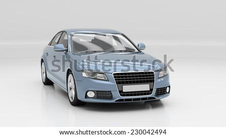 Car in studio - stock photo
