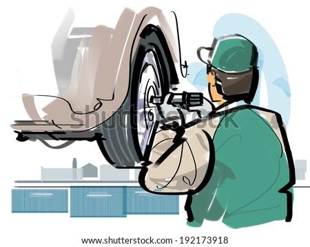 Car inspection - stock photo
