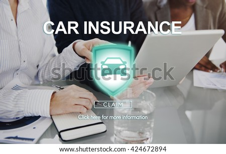 Car Insurance Damage Policy Transport Vehicle Concept