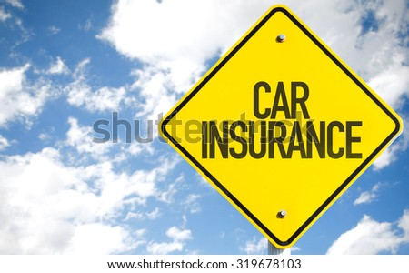 Car Insurance sign with sky background