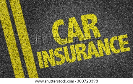 Car Insurance written on the road - stock photo