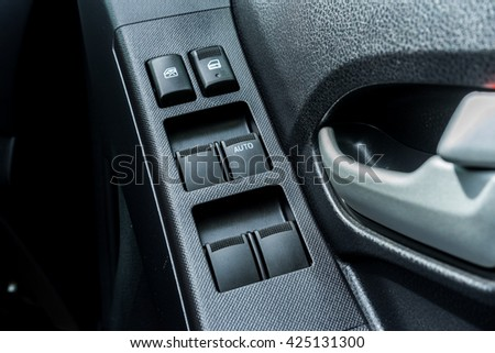 Car Interior Black Door Panel Nobody Stock Photo Royalty Free