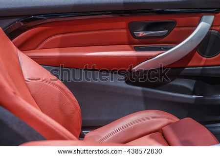 Car Interior Door Panel Stock Photo Image Royalty Free 438572830