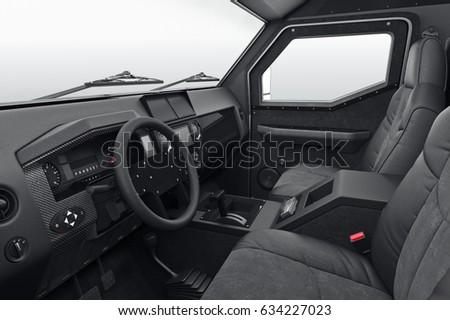 car interior inside black dashboard 3 d stock illustration 634227023 shutterstock. Black Bedroom Furniture Sets. Home Design Ideas