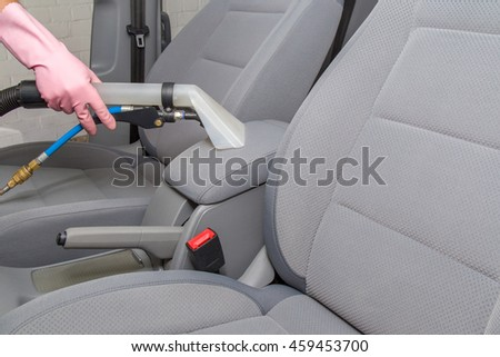 car interior textile seats chemical cleaning stock f nyk p 409643491 shutterstock. Black Bedroom Furniture Sets. Home Design Ideas