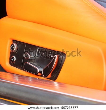 Car interior luxury service. Car interior details