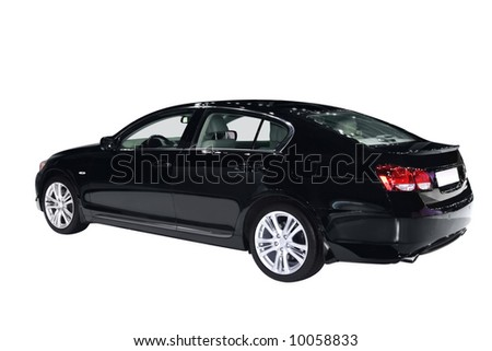 Car isolated - stock photo